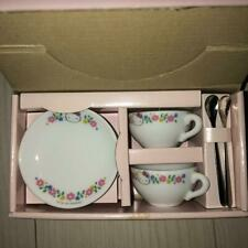 Used Sanrio Hello Kitty small tea set rare miniature saucer spoon not for sale