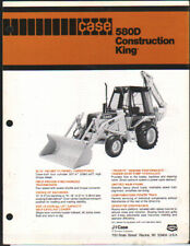 "CASE ""580D"" Construction King Backhoe Loader Brochure Leaflet"