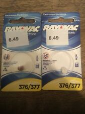 Rayovac 376/377 button batteries, lot of 2.