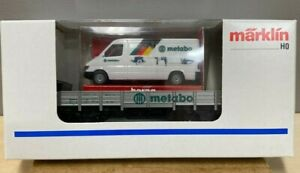 """Marklin  94064  Flatcar with Truck """"METABO"""".   Truck by Herpa.  Mint"""