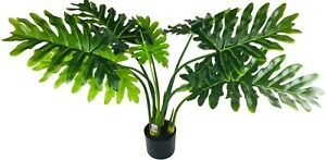 Realistic Foliage Artificial Philodendron Tree with Short Stem 95cm