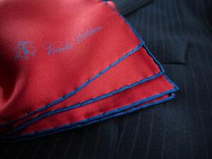 Brooks Brothers Pocket Square 100% Silk Handkerchief NWD MSRP $55 New