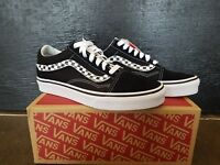 NEW IN THE BOX VANS OLD SKOOL SIDESTRIPE V BLACK/WHITE VN0A38G1UJJ FOR MEN