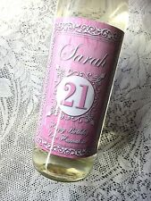 PERSONALISED SHABBY CHIC Design 2 BIRTHDAY WINE LABEL 18th, 21st, 30th, 40th