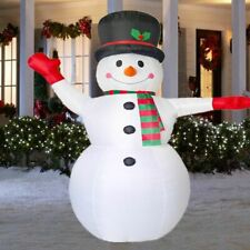 Christmas Lighted Inflatable Snowman LED Yard Decoration Christmas Props Toy
