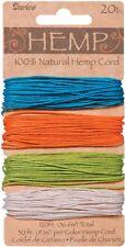Hemp Cord Set, 4 Colors, Assorted Brights, 20lb, 30' (9.1m) per Color