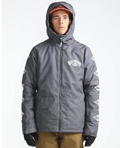 Billabong Men's Snow Jacket All Day 10K Waterproof Breathability - Grey - New