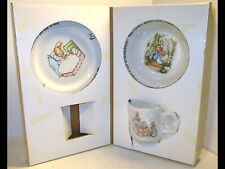 2006 Peter Rabbit Wedgwood Frederick Warne 3 Pc Mug/Bowl/Plate Baby Child Set
