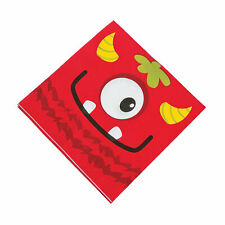 Mini Monster Luncheon Napkins - Party Supplies - 16 Pieces