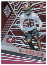 2017 Panini Phoenix Football Red Parallel /299 RC #157 Reuben Foster 49ers