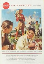 OLD ADVERT COCA COLA DRINKS c1958 SWITZERLAND VINTAGE PRINTED COLOUR PRINT