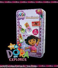 DOMINOES SET DORA THE EXPLORER IN COLLECTABLE TIN CHILDREN GIRLS KIDS TOY