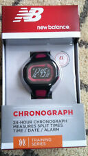 NEW BALANCE 24 HR CHRONOGRAPH ATHLETIC WATCH TRAINING SERIES NDURANCE BERRY