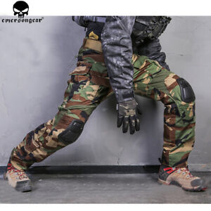 Emerson Mens Military Trousers Combat Tactical Pant BDU G3 Hunting Hiking Camo
