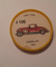 Jello Car Coins -- #106  of 200 - The Cadilac