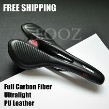 Full Carbon Fiber Ultralight PU Saddles MTB Mountain Bike Road Bike Hollow Seats
