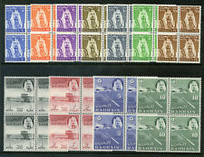 Bahrain 1964 QEII set complete in blocks superb MNH. SG 128-138. Sc 130-140.