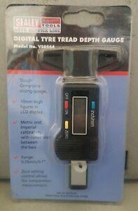 Sealey VS0564 0-25mm Digital LCD Display Tyre Tread Depth Gauge Tester