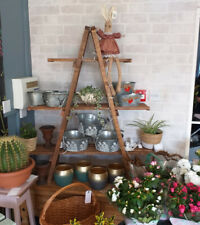 Stylish A frame Shelving Storage shop  Inside/outside plant Stand Patio Stand