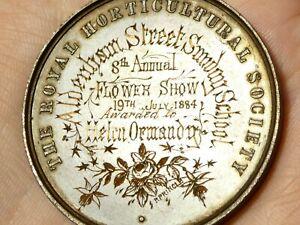 1884 Horticultural Society GUISBORO Helen Ormandy Flower Show Bronze Medal #T8H