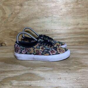 VANS Floral Low Top Sneaker Shoes, Women's size 7, Multicolor