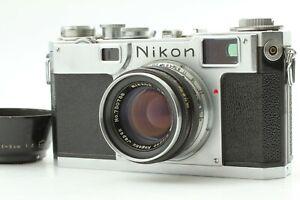 【Near MINT】Nikon S2 Rangefinder 35mm Film Camera w/Nikkor HC 50mm f/2 from JAPAN