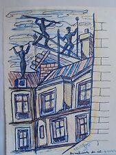 Art Moderne XX Daniel LANDER Dessin Cubiste Signé daté 45- DLG Léger Atlan 9/11