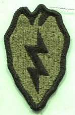 Vietnam era US Army 25th Infantry Division OD Subdued Green patch Merrowed Edge