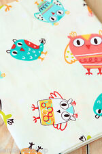 Big Owls Cotton Fabric Zakka Cute Cartoon Owl Birds Sewing Quilting Patchwork