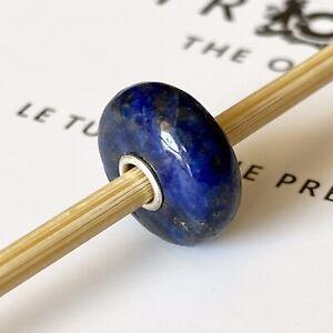 Authentic TROLLBEADS Smooth Lapis Lazuli Limited Edition Rare Gemstone