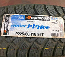 4 New 225 60 18 Hankook Winter iPike Studdable Snow Tires
