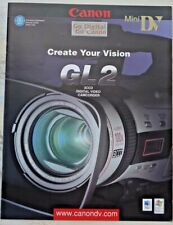 New NOS Canon brochure on Canon DM-GL2 DV Professional Camcorder Video Camera