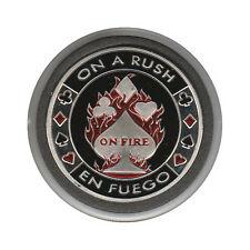 NEW On A Rush On Fire Poker Card Guard *SILVER*