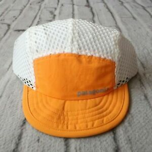 New Patagonia Duckbill Cap Orange Mesh Hat Running Cycling