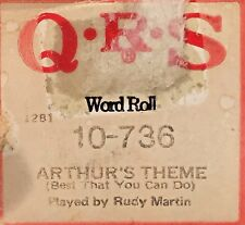 QRS Word Roll ARTHUR'S THEME (Best That You Can Do) 10-736 Player Piano Roll