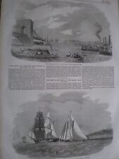 Boat race for championship of Thames & Isle of Wight sailing match 1857 prints