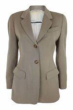 * JIL SANDER * marron clair pure laine vierge jacket (FR 38)