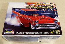 🏁 REVELL '57 Chevy Funny Car - Tom Mongoose McEwen Model Car Kit 1:24 🏁