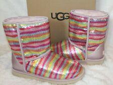 NIB UGG Classic Short Rainbow Sequin Sparkle Boots Youth 6 Women's 8 Rare!
