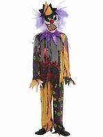 Enfants Filles Garçons Effrayant Clown Masque Halloween Horror Fancy Dress Costume Outfit