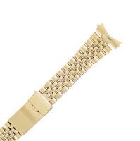 Hadley Roma MB5695YCE 20mm Mens Gold Tone Mens Bracelet Watch NOS