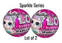 Set of 2 LOL Surprise Sparkle Series 6 Balls Big Sister Brother Dolls 1 3 4 5