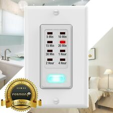 Digital In Wall Switch Gang Countdown Programmable Timer Auto Bathroom Fan Light