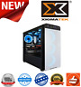Xigmatek Refract S1 Black Mid Tower Tempered Glass Side 5x120mm Blue LED Fans