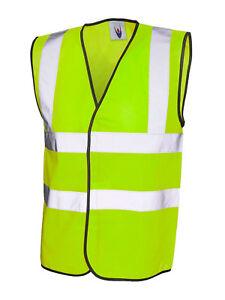 Hi-Visibility Sleeveless Safety Vest. FREE FULL COLOUR  LOGO OF YOUR CHOICE!