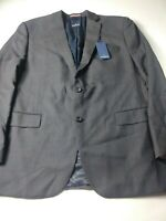 New Daniel Hechter Mens Sport Coat Size 46L Gray Check Two Button Dual Vent Wool