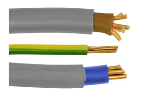 PREMIUM 16mm & 25mm Brown & Blue Insulated Meter Tails Set + 16mm Earth - SET