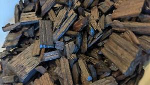 100g WHISKY AGED Oak Chips, American Oak/MEDIUM TOAST Char - Beer/Wine not Cubes