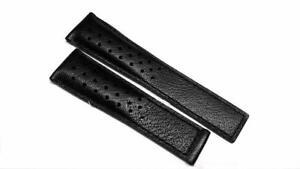 TAG HEUER MONACO black calf strap 22mm FC6356 for deployment FC5014 GENUINE *NEW