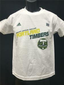 New-Minor Flaw Portland Timbers Youth Size S Small White Adidas Shirt MSRP $16